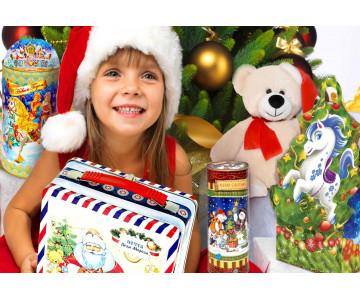 Где заказать новогодние подарки детям сотрудников оптом